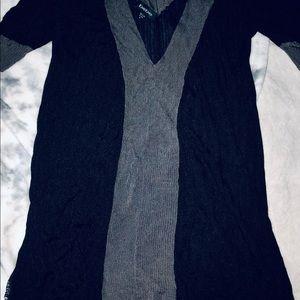 BEBE a line v neck sweater dress knit tunic top M